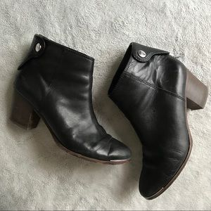 Coach Waldorf Leather Bootie Ankle Boot Black